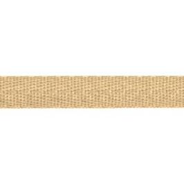 Keperband van polyester 10 mm beige