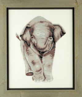 Borduurpakket van een olifantje.