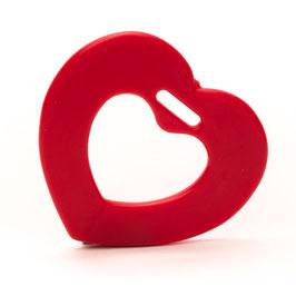 Rode galde hartjes bijtring van Durable.