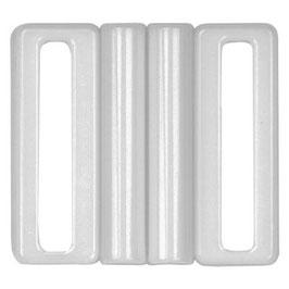 Kunststof gesp wit 40 mm vierkant