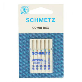 Schmetz combi box 3 universele & 1 stretch & 1 jeans naalden