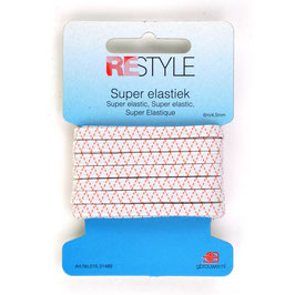 Wit super elastiek 4,5 mm 6 m