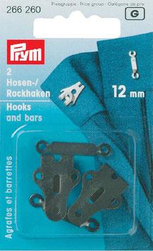 Rok-broek haken zwart 12 mm