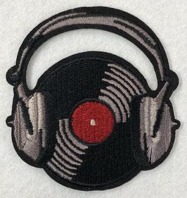 Muziek plaat met koptelefoon applicatie