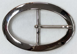 Metalen gesp ovaal glans metaal nr:407