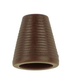 Koorddop kegelvorm donker bruin