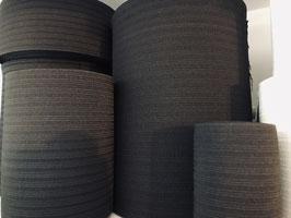 Zwart breed elastiek prijs per 25cm