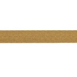 Keperband van polyester 10 mm bruin
