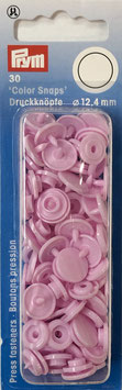 Ronde Color Snaps roze