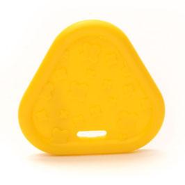 Gele driehoek bijtring van Durable.