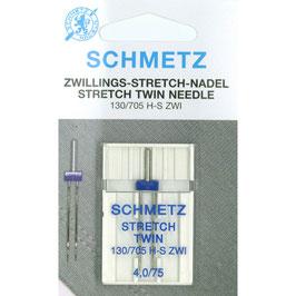 Schmetz stretch tweelingnaald 130/705 H S ZWI 4,0-75