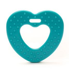 Blauwe ribbel hartjes bijtring van Durable.