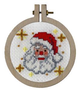 Kerstman borduurring