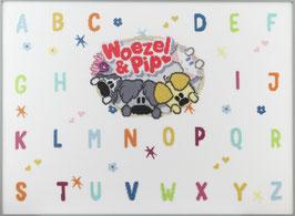 Borduurpakket alfabet met Woezel en Pip .