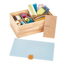 Prym houten box met een blauwe deksel