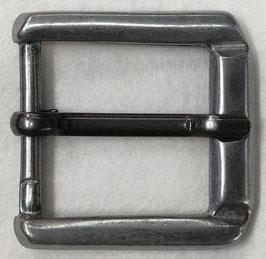 Metalen gesp langwerpig dof metaal nr:409