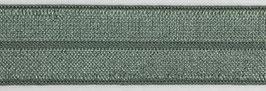 Biaisband elastisch vergrijst groen