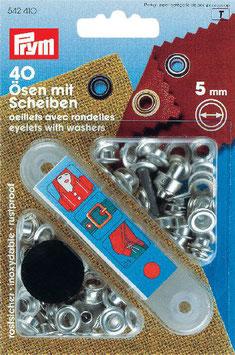 Ringen met schijven 5 mm zilverkleurig