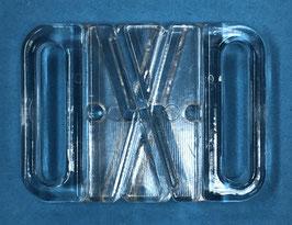Bikini kruissluiting 18 mm transparant kunststof