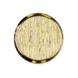 Metalen knoop plat glad geruwd goudkleur