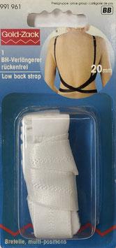 Schouderband verlenger voor een blote rug wit