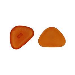 Aannaaibare driehoek neuzen 22 mm licht bruin / oranje