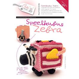 Cute Dutch patroonboekje van speelkubus zebra