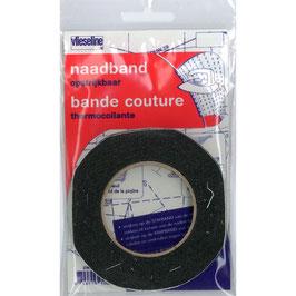 Naadband zwart van vlieseline