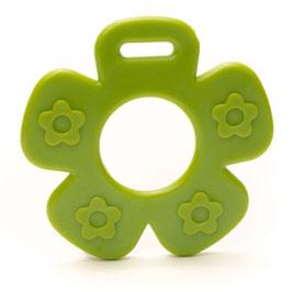 Donker groene bloem met bloemprint bijtring van Durable.