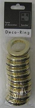 Deco gordijnringen 35,5x55mm messingkleur