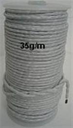 Loodkoord 35 gram per meter.