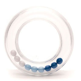 Durable rammelaar met blauwe balletjes 63 mm