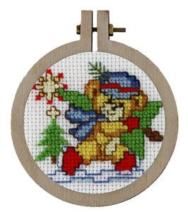 Kerstbeer borduurring