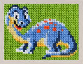 Voorbedrukt borduurpakket van een dinosaurus voor kinderen