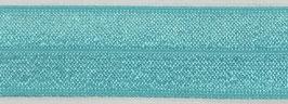 Biaisband elastisch turquoise