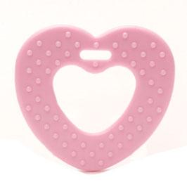 Roze ribbel hartjes bijtring van Durable.