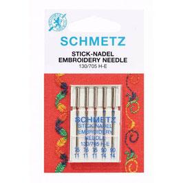 Schmetz 130/705 H-E Borduurnaald mix pak