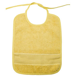 Slabbetje geel met Aïda borduurband