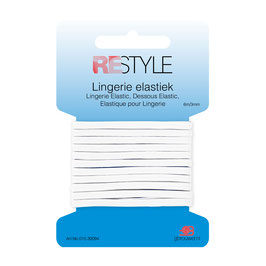 Wit lingerie elastiek 3 mm
