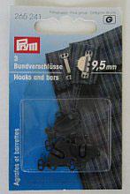 Rok-broek haken zwart 9,5 mm