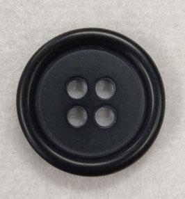 Ronde zwarte 4 gaats knoop met dikke rand.