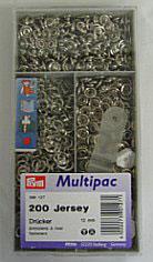 Drukknopen inslaan zilver kleur voor tricot open ring grootverpakking 10 mm