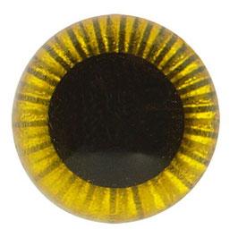 Veiligheidsogen uilenogen 10 mm geel