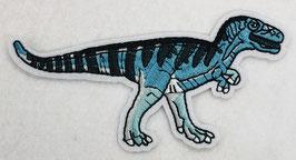 Turquoise Tyranosaurus-Rex (T-Rex) dinosaurus applicatie