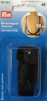 Schouderband verlenger voor een blote rug zwart