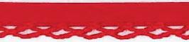 Rood biasband met een kantje