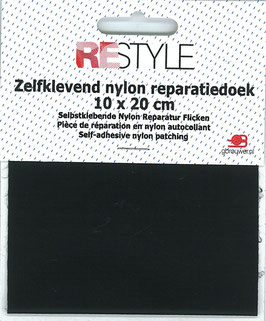 Zelfkevend nylon reparatiedoek Zwart