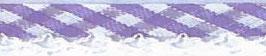 Ruitjes biaisband met een kantje paars