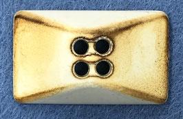 Rechthoekige knoop beige met donkere accenten
