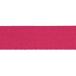 Keperband van polyester 20 mm donker roze